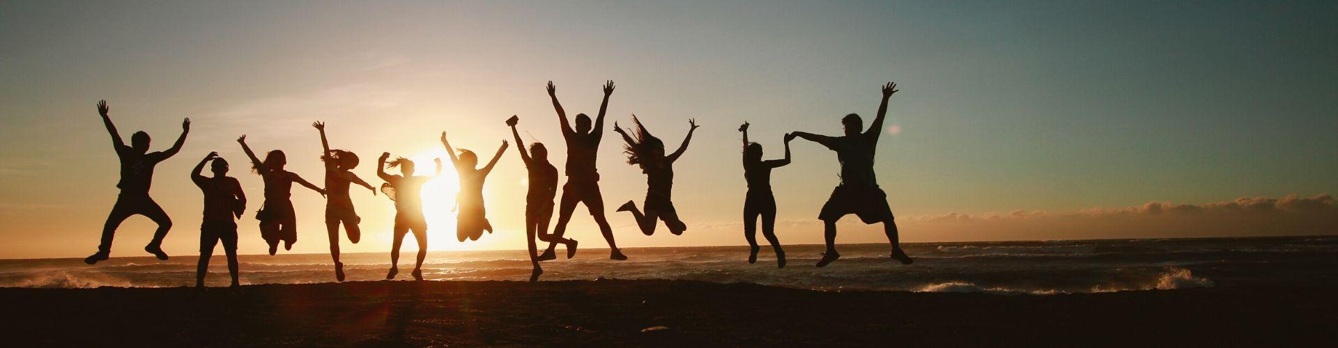 Adventure Plus team jumping